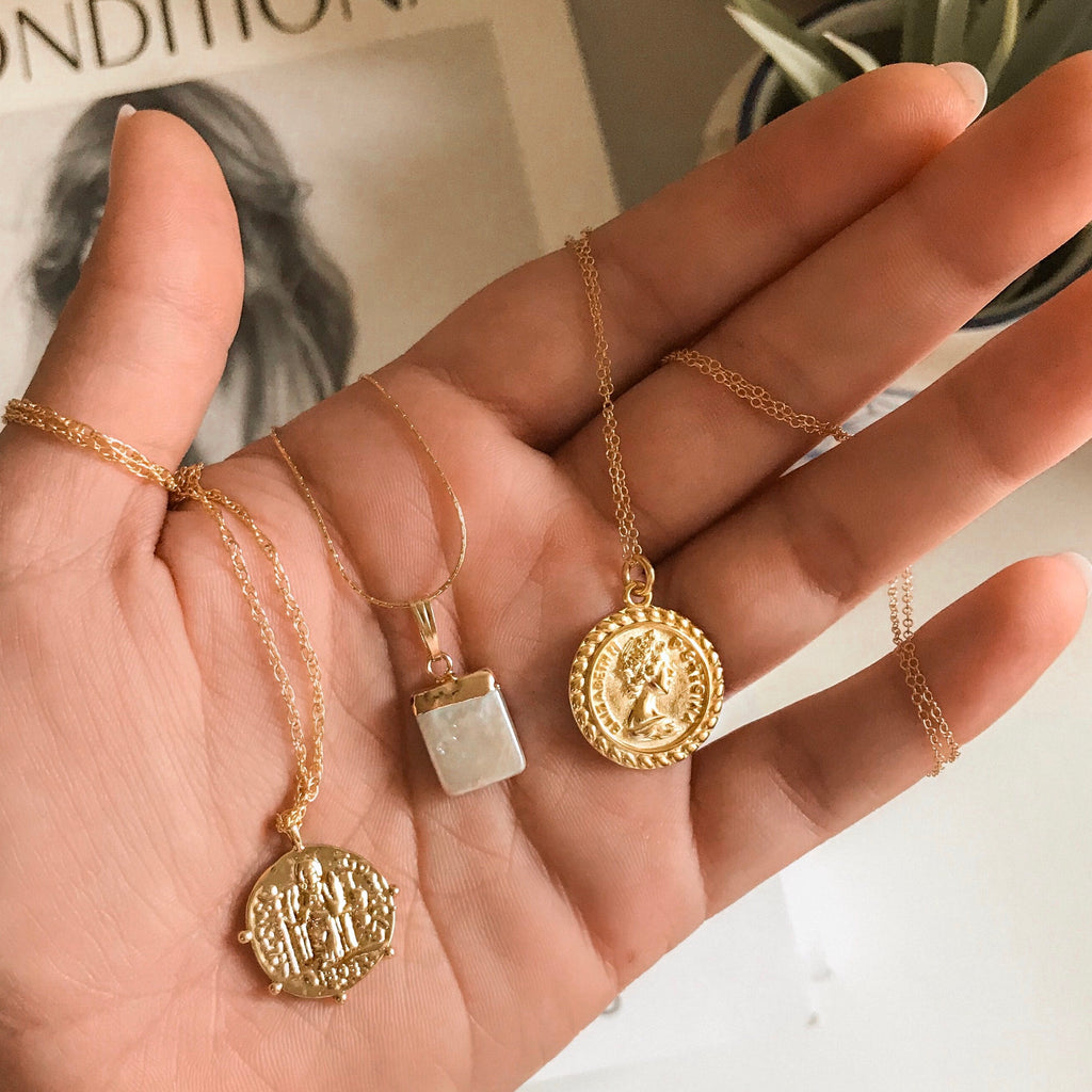 Vintage Saint Coin Necklace - GF - NECKLACES - MOD + JO