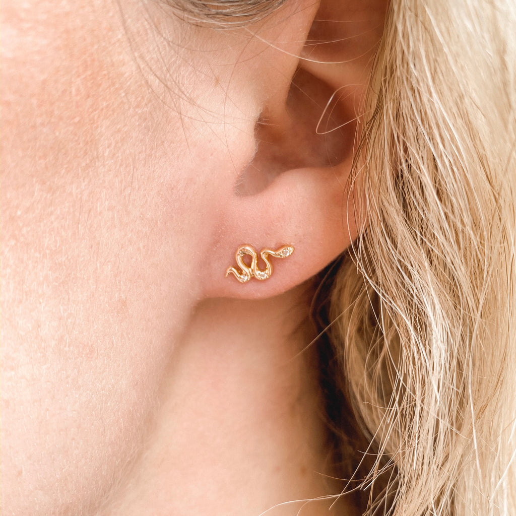 Serpent Stud Earrings - EARRINGS - MOD + JO
