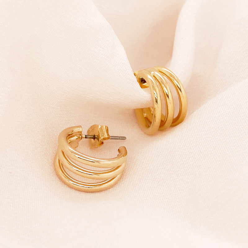 Trio Mini Hoops - EARRINGS - MOD + JO