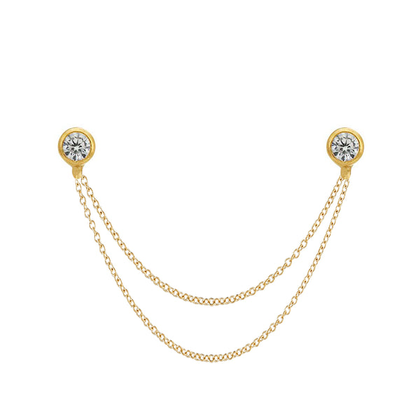 Naomi Duo Chain Stud