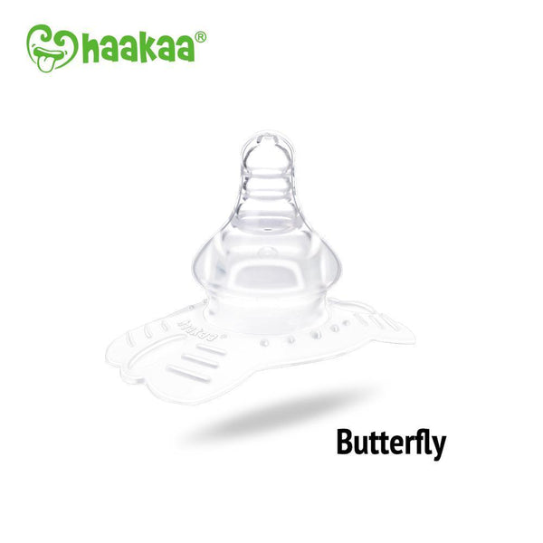 Haakaa Silicone Breastfeeding Nipple Shield, Butterfly Shape 1 pk