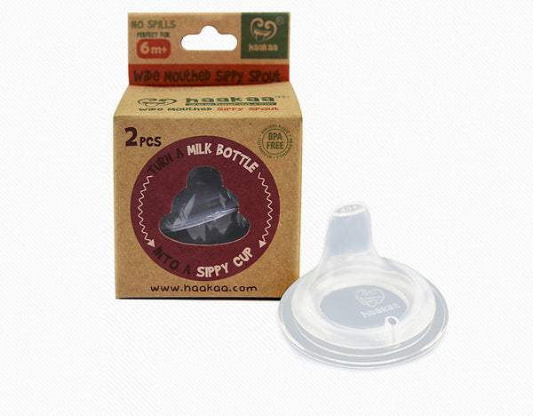 Haakaa Silicone Wide Neck Sippy Spouts 2 pk