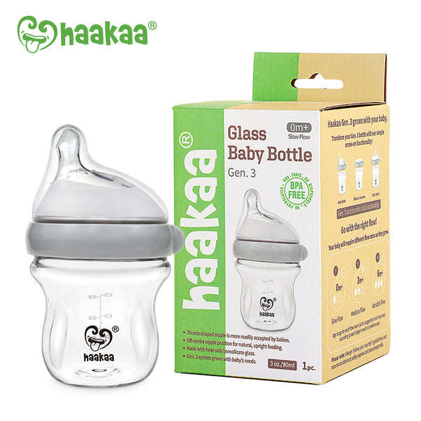 Haakaa Generation 3 Glass Baby Bottle 3 oz/90 ml, 1 PK