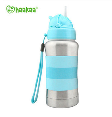 Haakaa Standard Neck Thermal Stainless Steel Straw Bottle 9 oz 1 pk
