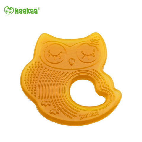 Haakaa Sleeping Owl Natural Rubber Teether 1 pk
