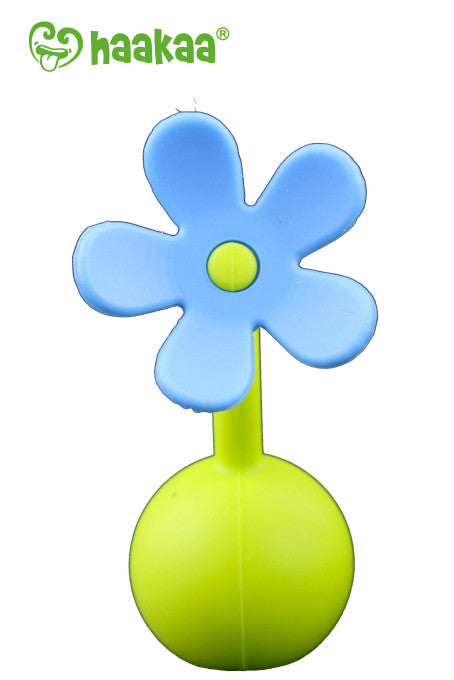 Haakaa Gen 1 Silicone Breast Pump 4 oz and Silicone Flower Stopper Set