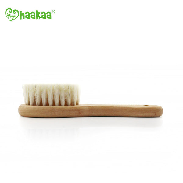 Haakaa Goats Wool Wooden Baby Hairbrush 1 pk