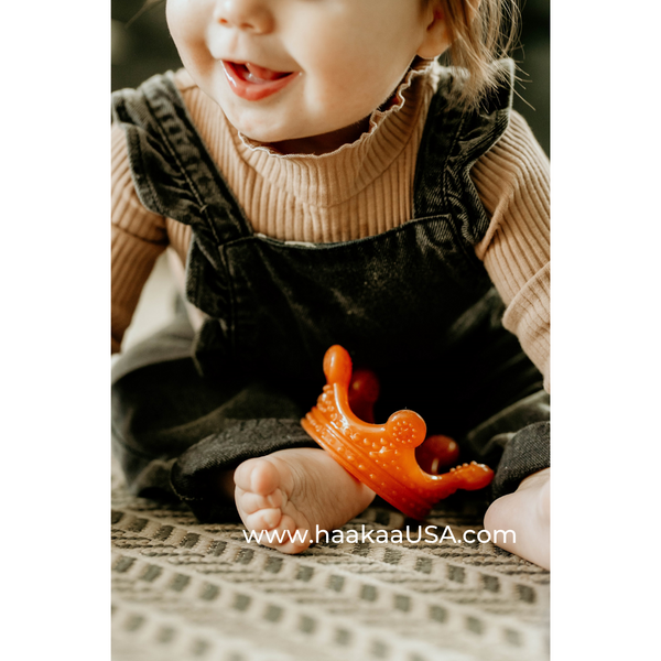 Haakaa Silicone Crown Teether 1 PK - Amber