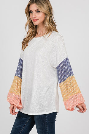Color Pop Puff Sleeve tunic