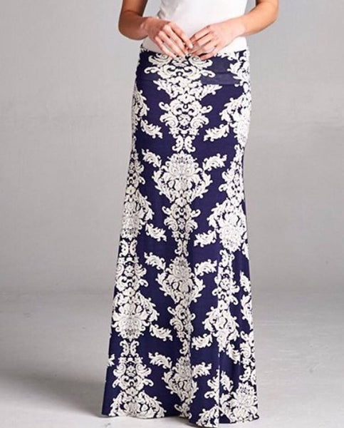 Hawaiian Floral maxi skirt
