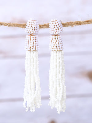 Gum drop Beaded Tassel earrings
