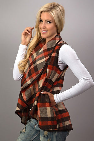 Fall into Plaid vest