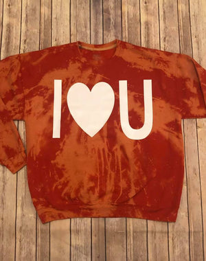 I Love You sweatshirt-Adult