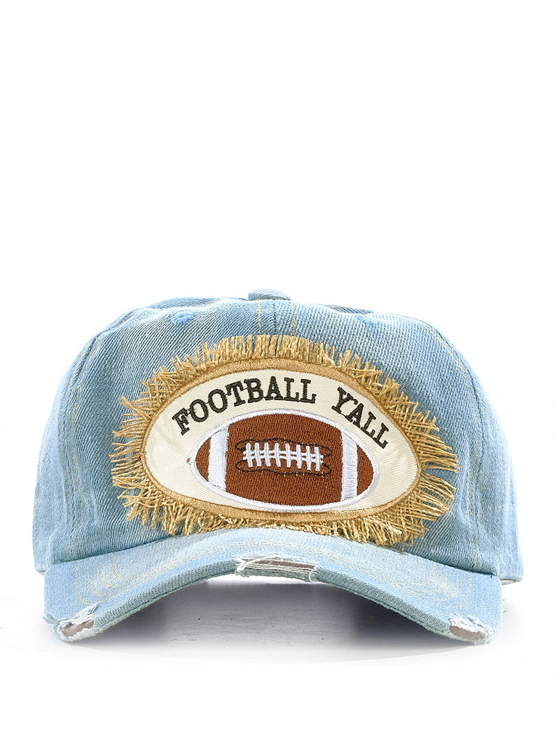 Football Distressed baseball caps