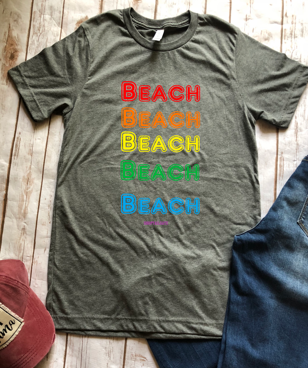 BEACH BEACH BEACH BEACH {multi colored}