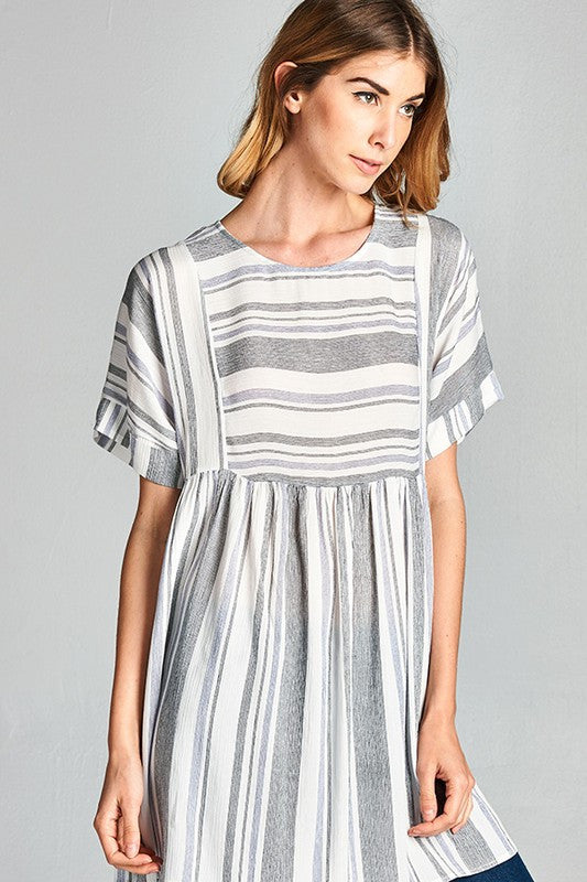 Stripe Baby doll tunic