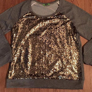Spangle Pullover in Grey and Gold