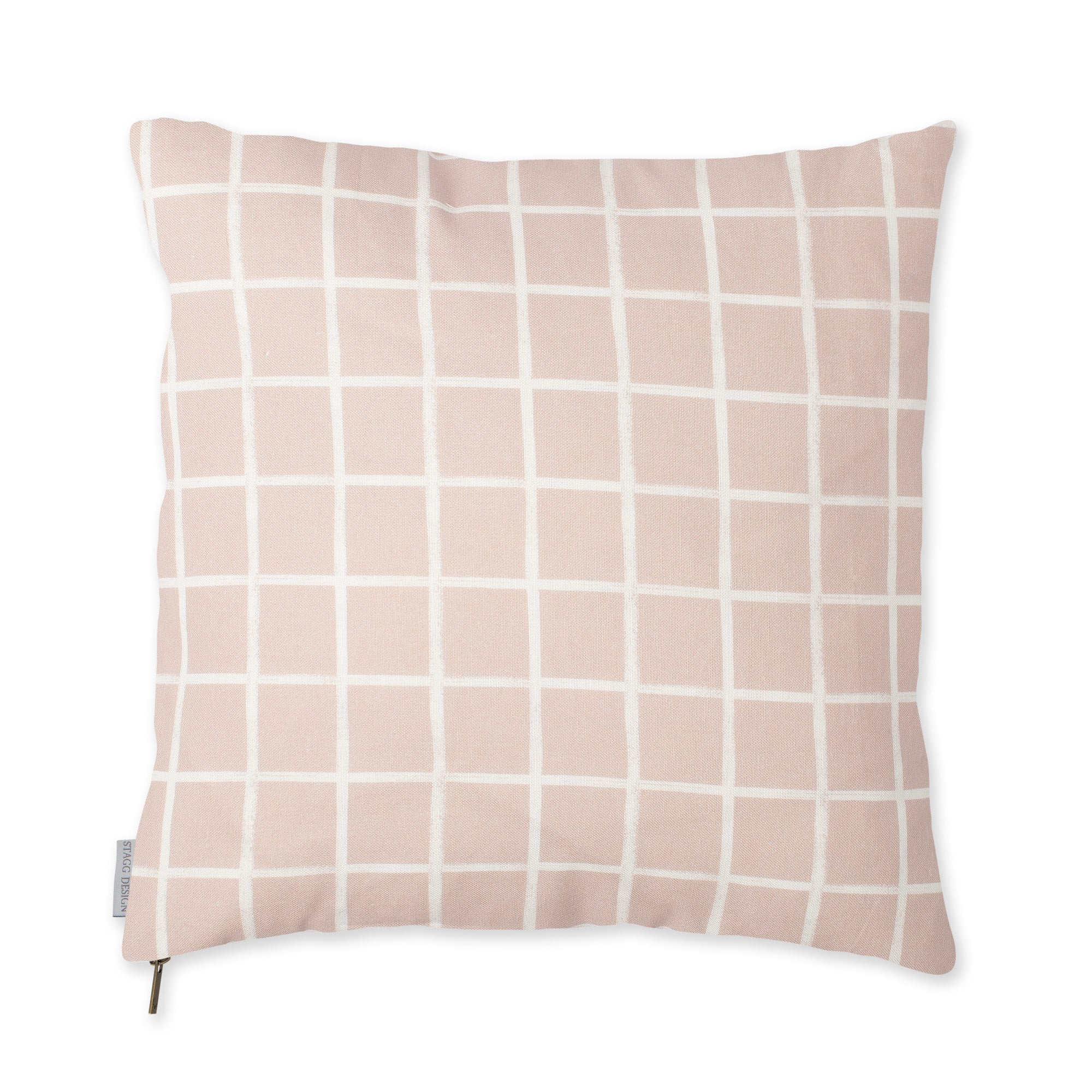 Chase Plaid Pillow - Dusty Pink