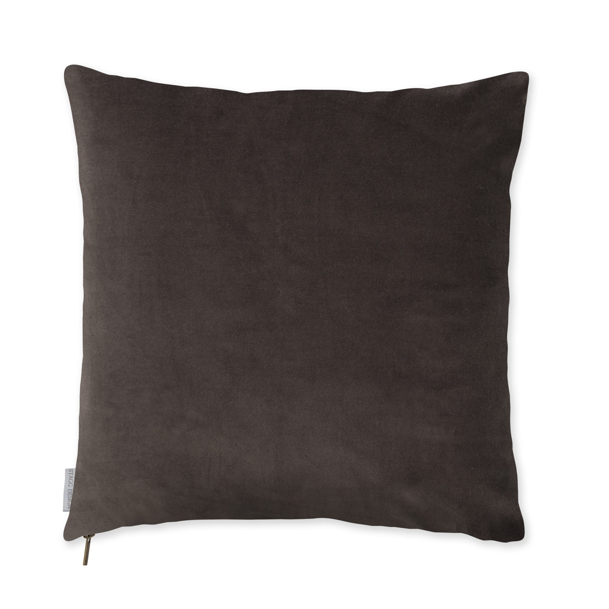 Slate Grey Velvet Pillow