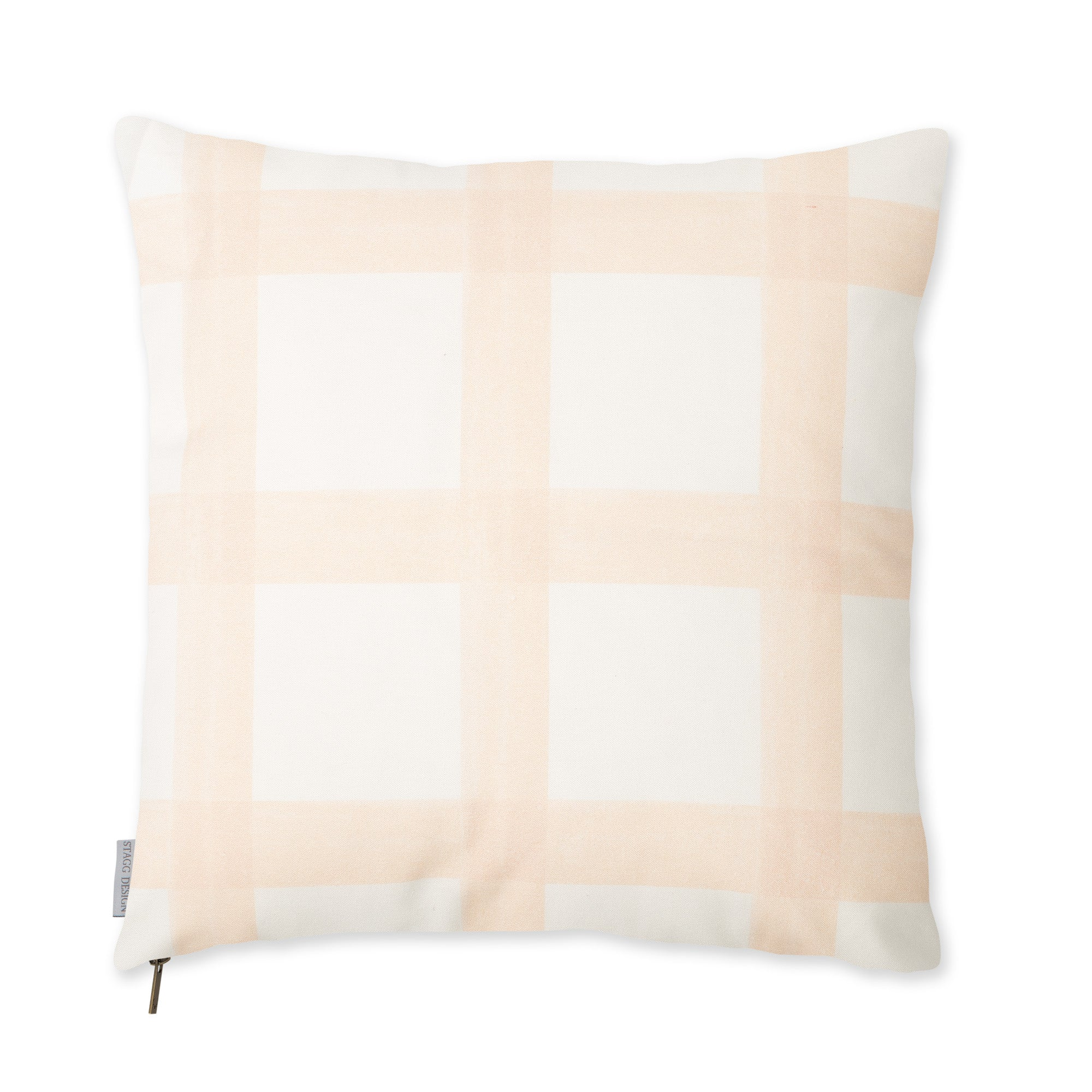 Brushstroke Plaid Pillow - Blush
