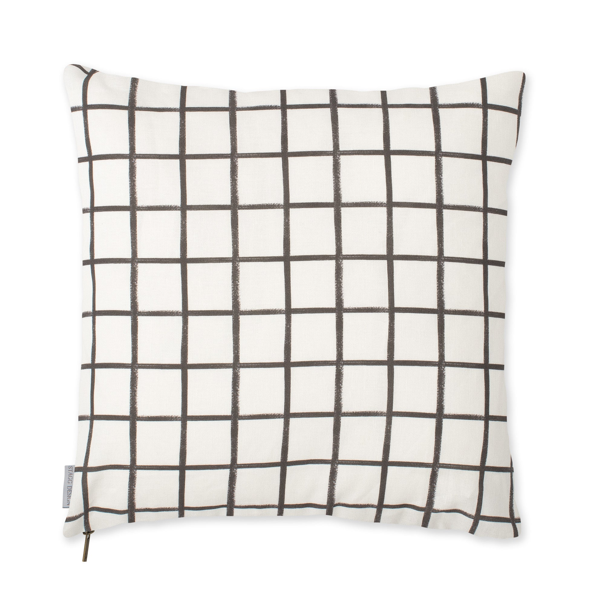 Chase Plaid Pillow - Graphite