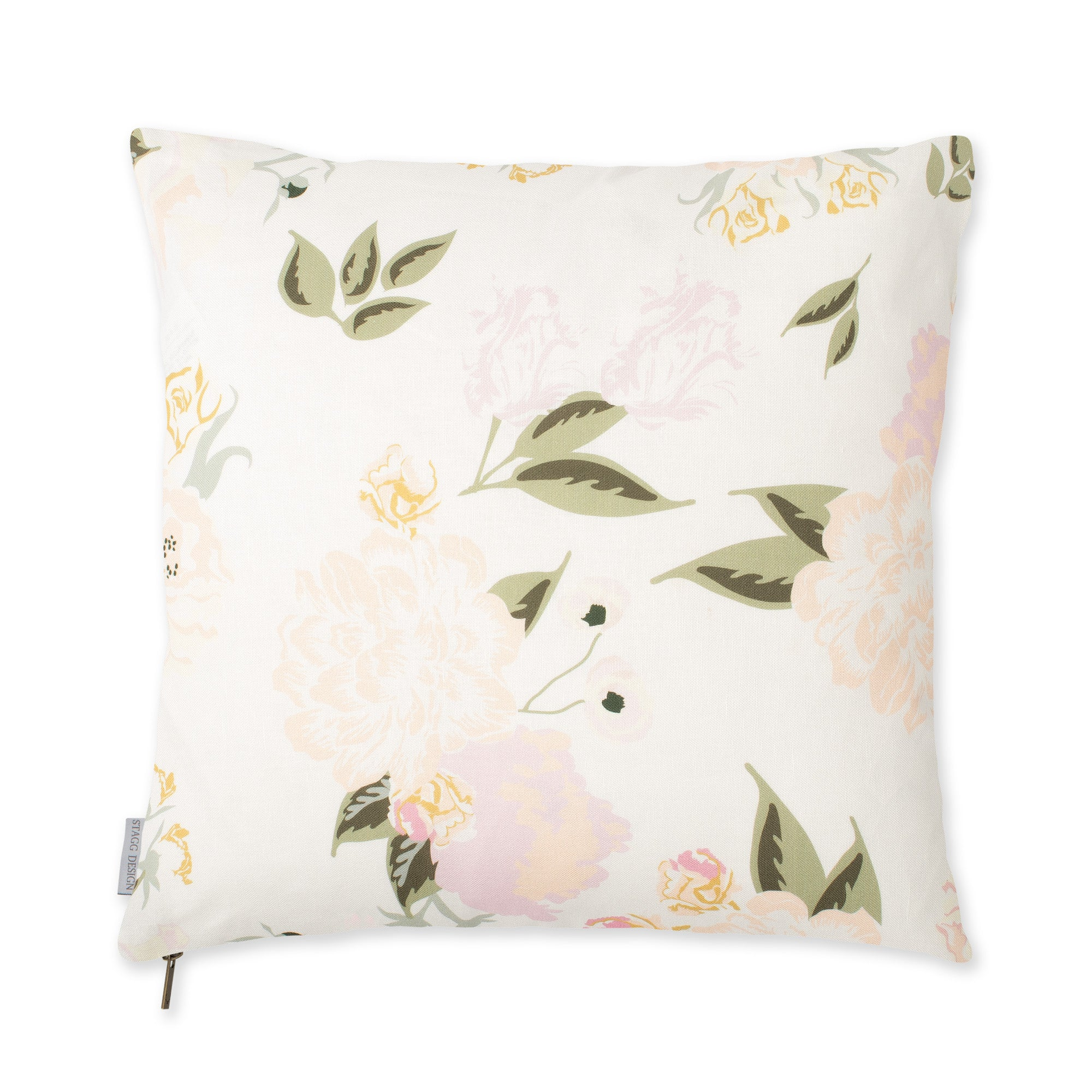 Vivienne Floral Pillow - Blush