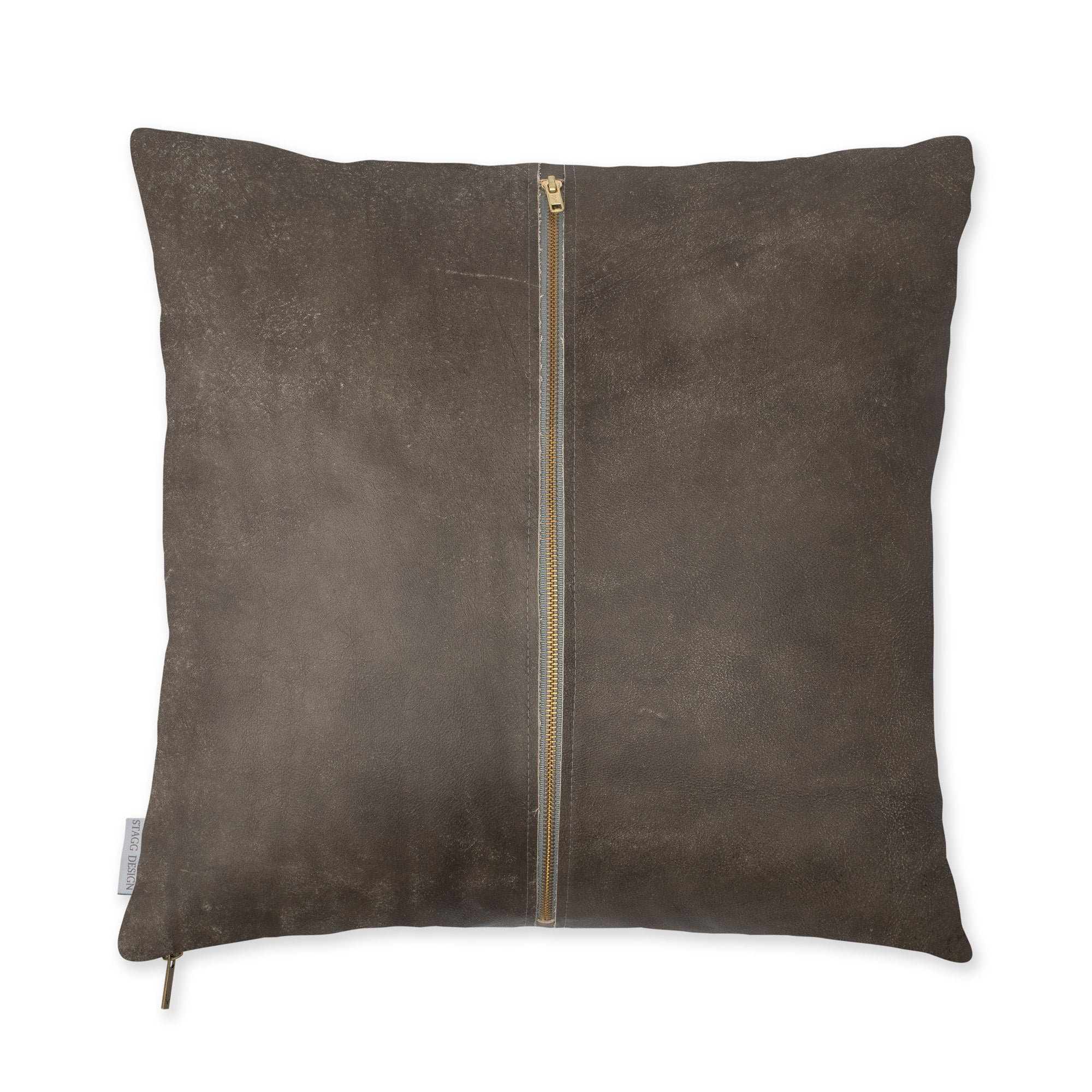 Signature Leather Pillow - Weathered Grey