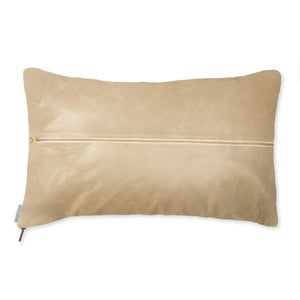 Signature Leather Pillow - Sand