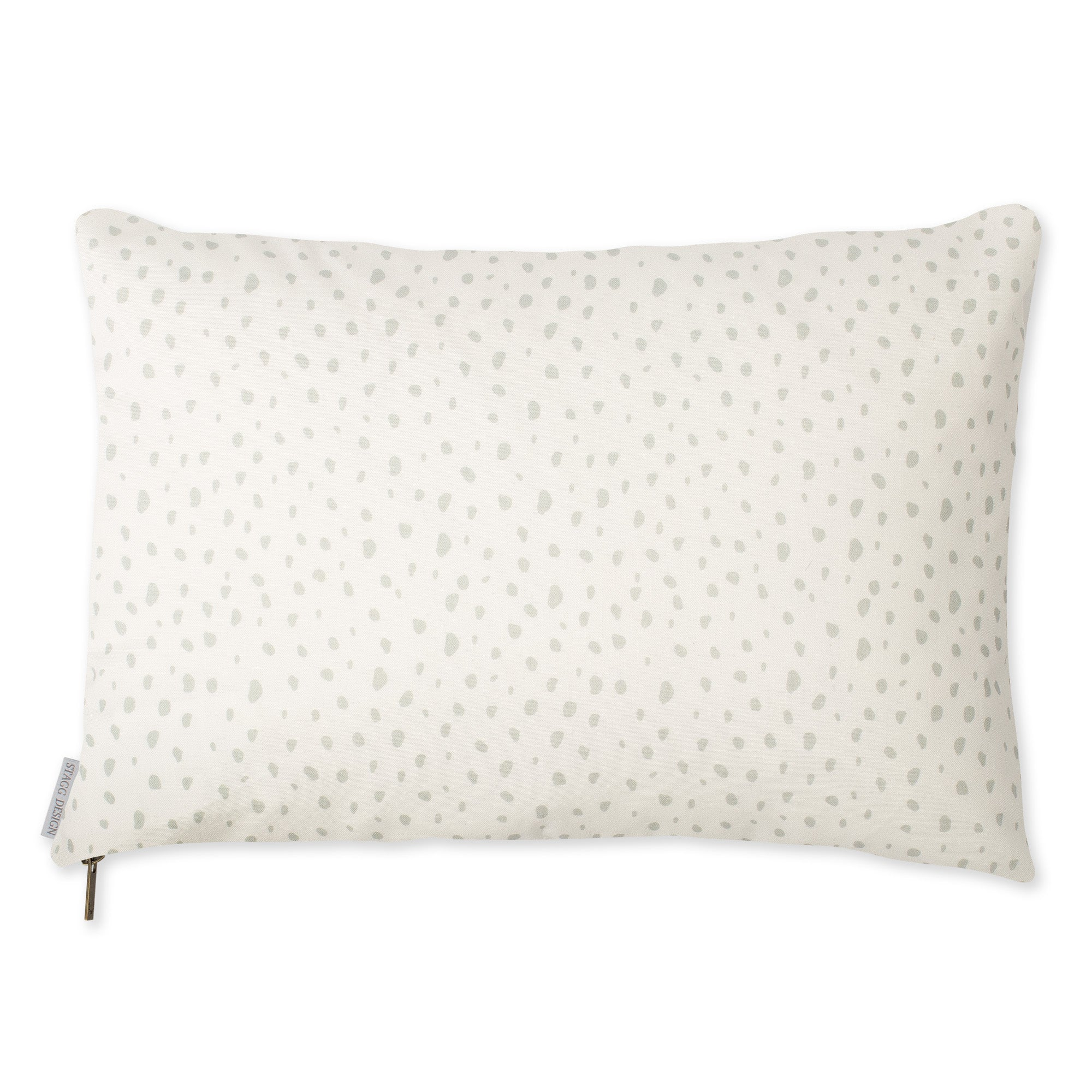 Modern Dot Pillow - Grey on White