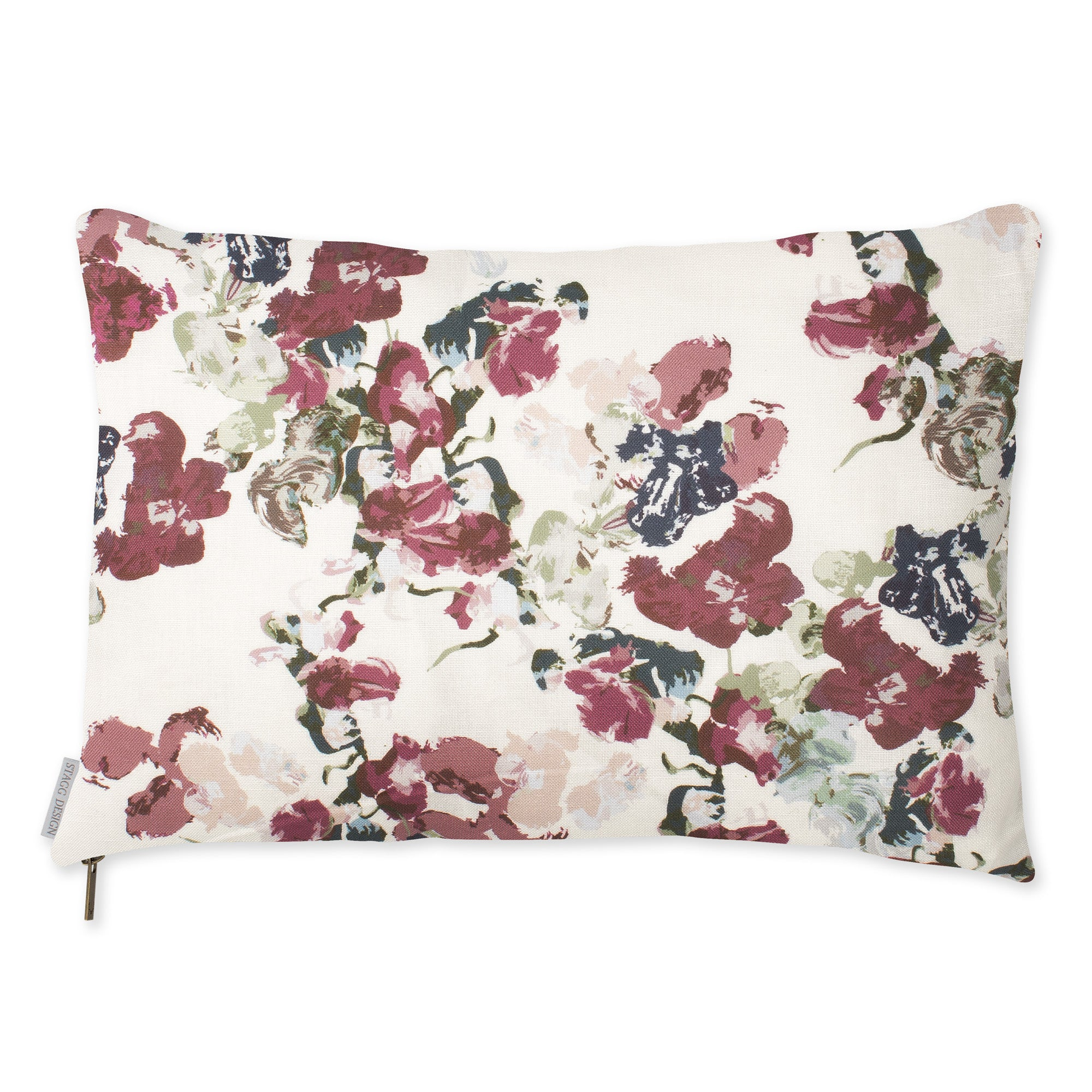 Anna Floral Pillow - Currant