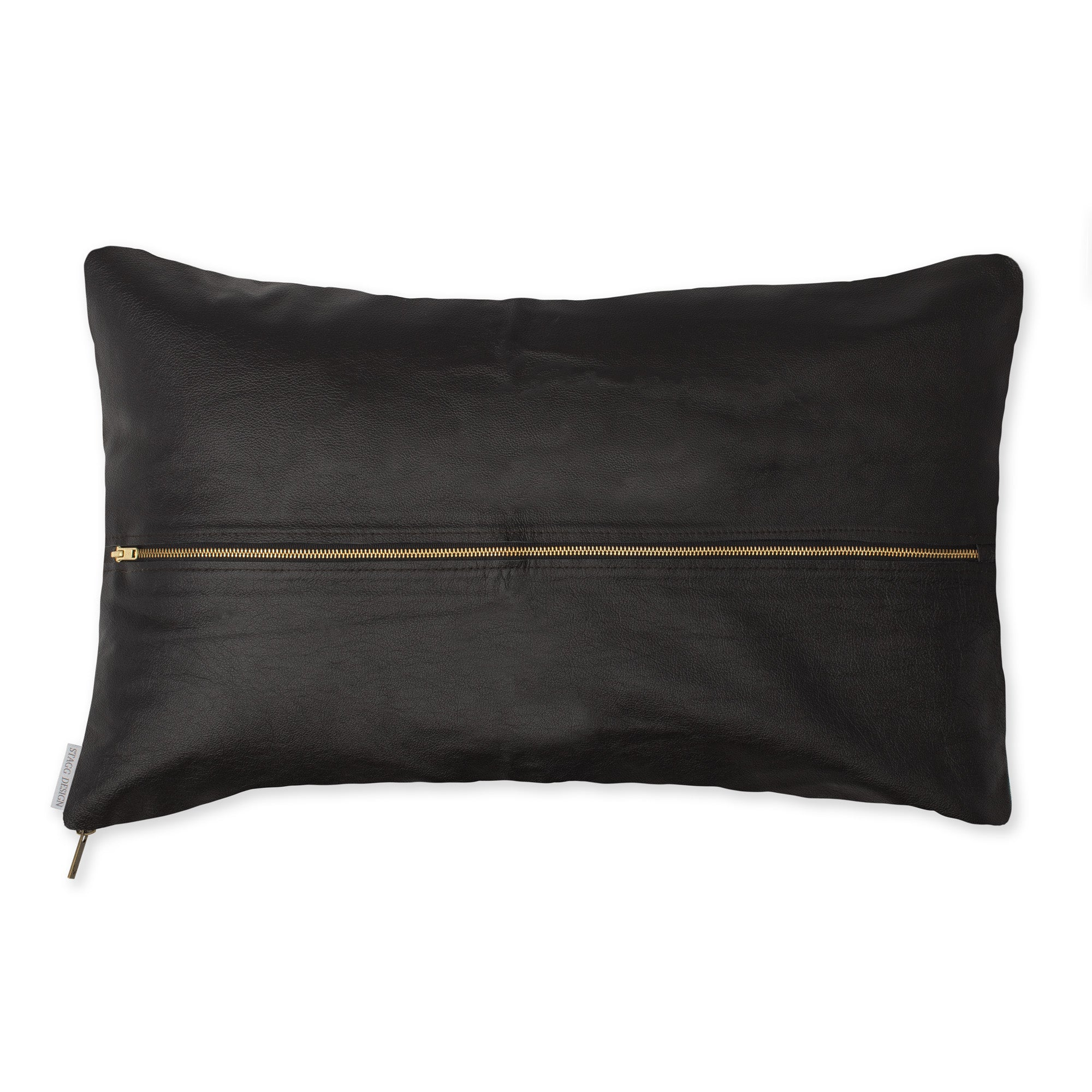 Signature Leather Pillow - Black