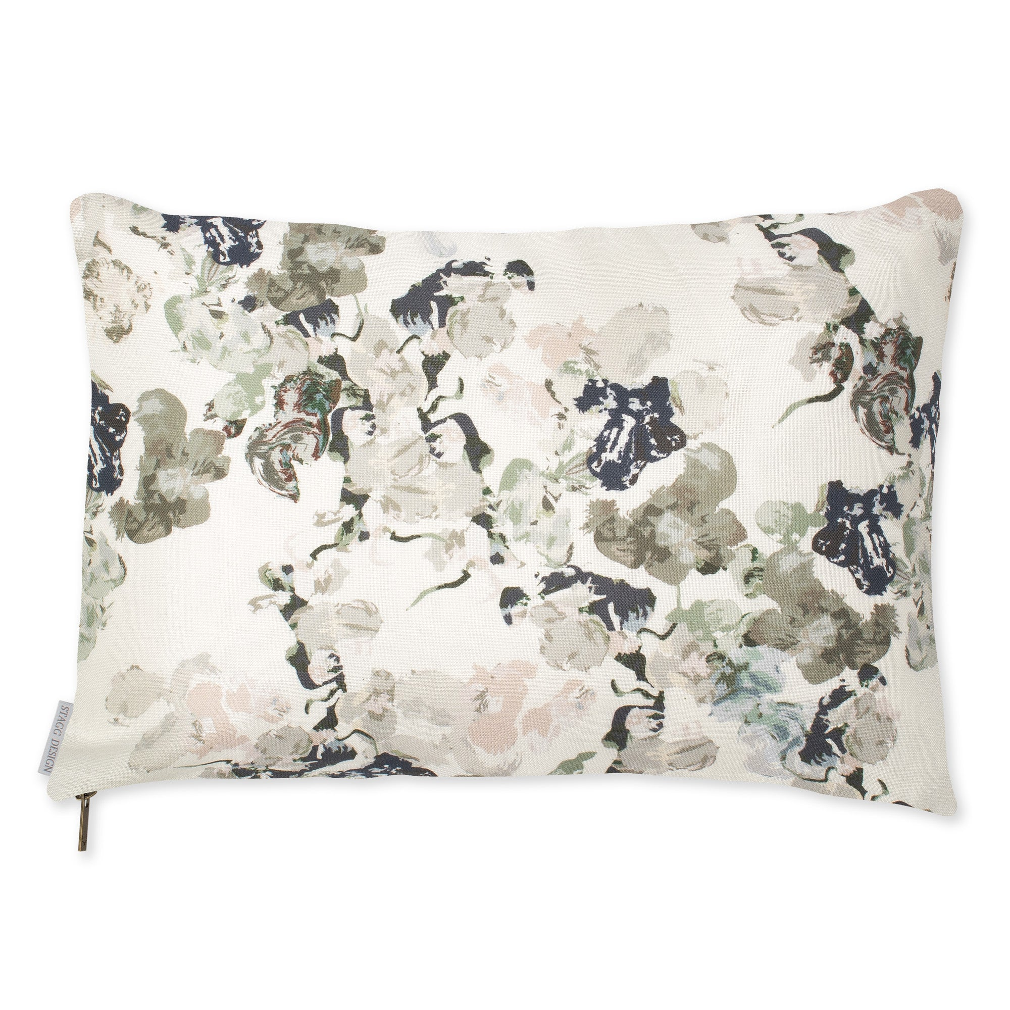Anna Floral Pillow - Dusty Pink