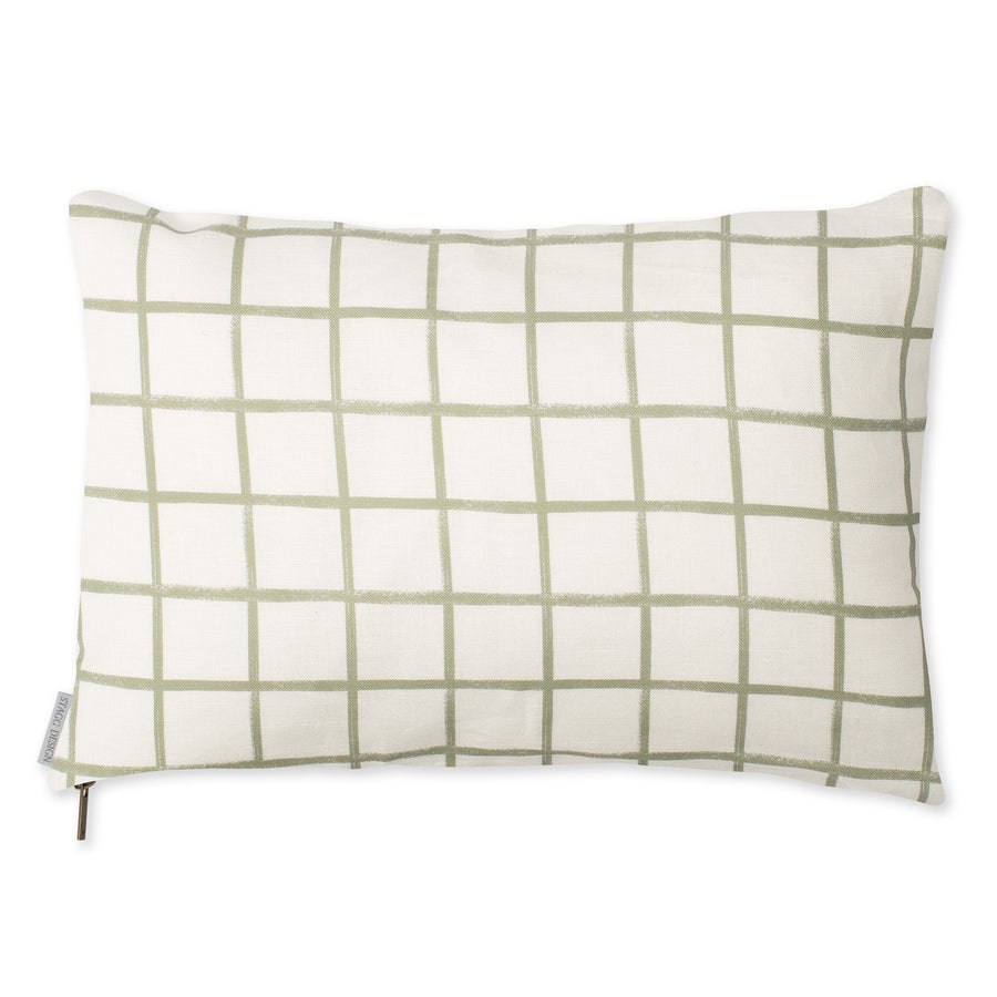 Chase Plaid Pillow - Moss