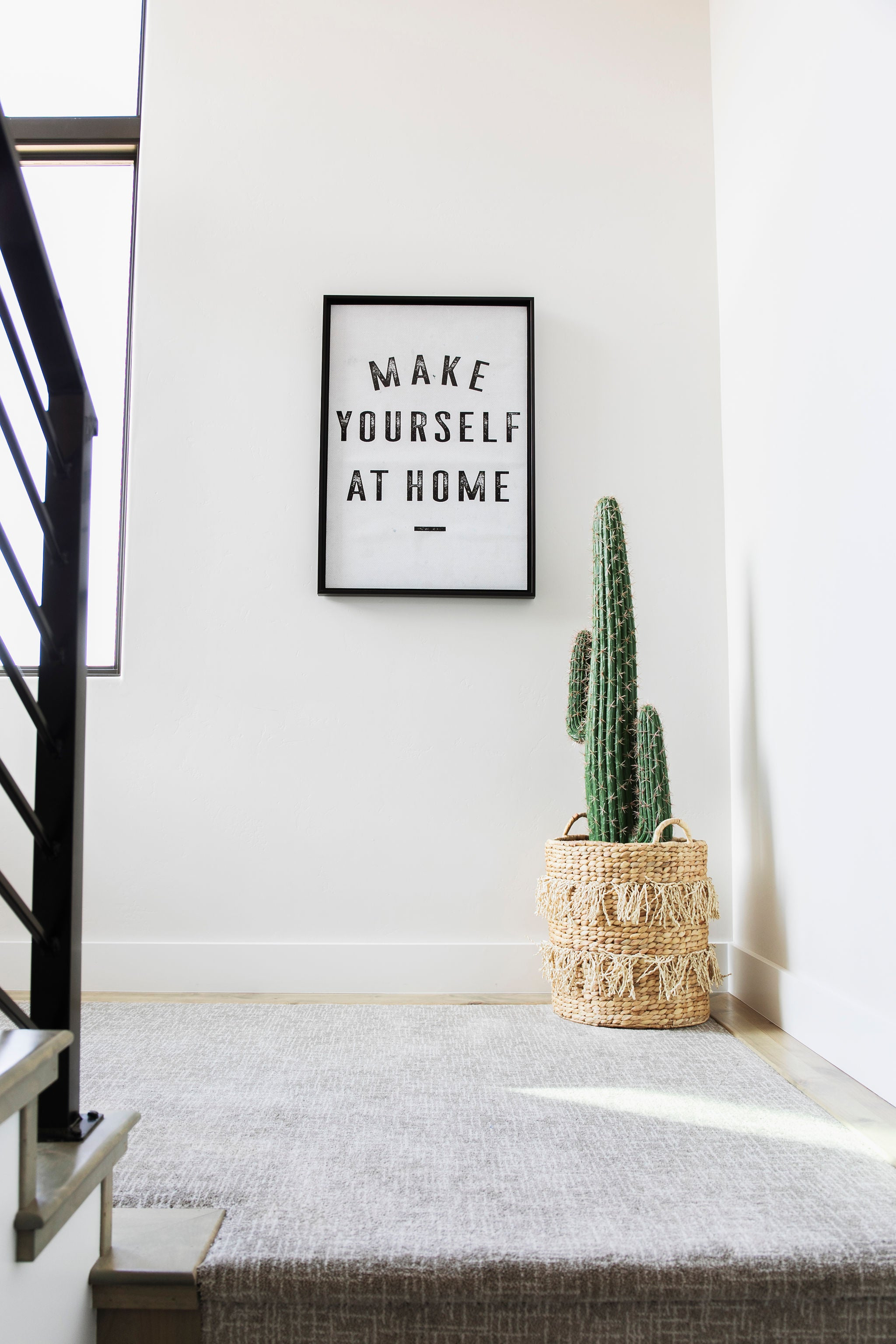 Make Yourself At Home Art Print- Taupe
