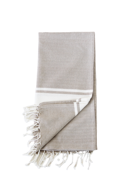 Mona Fringe Throw In Beige