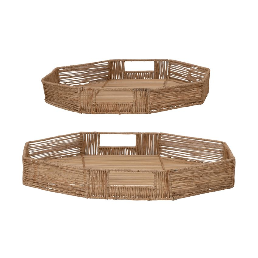 Bamboo Tray Set