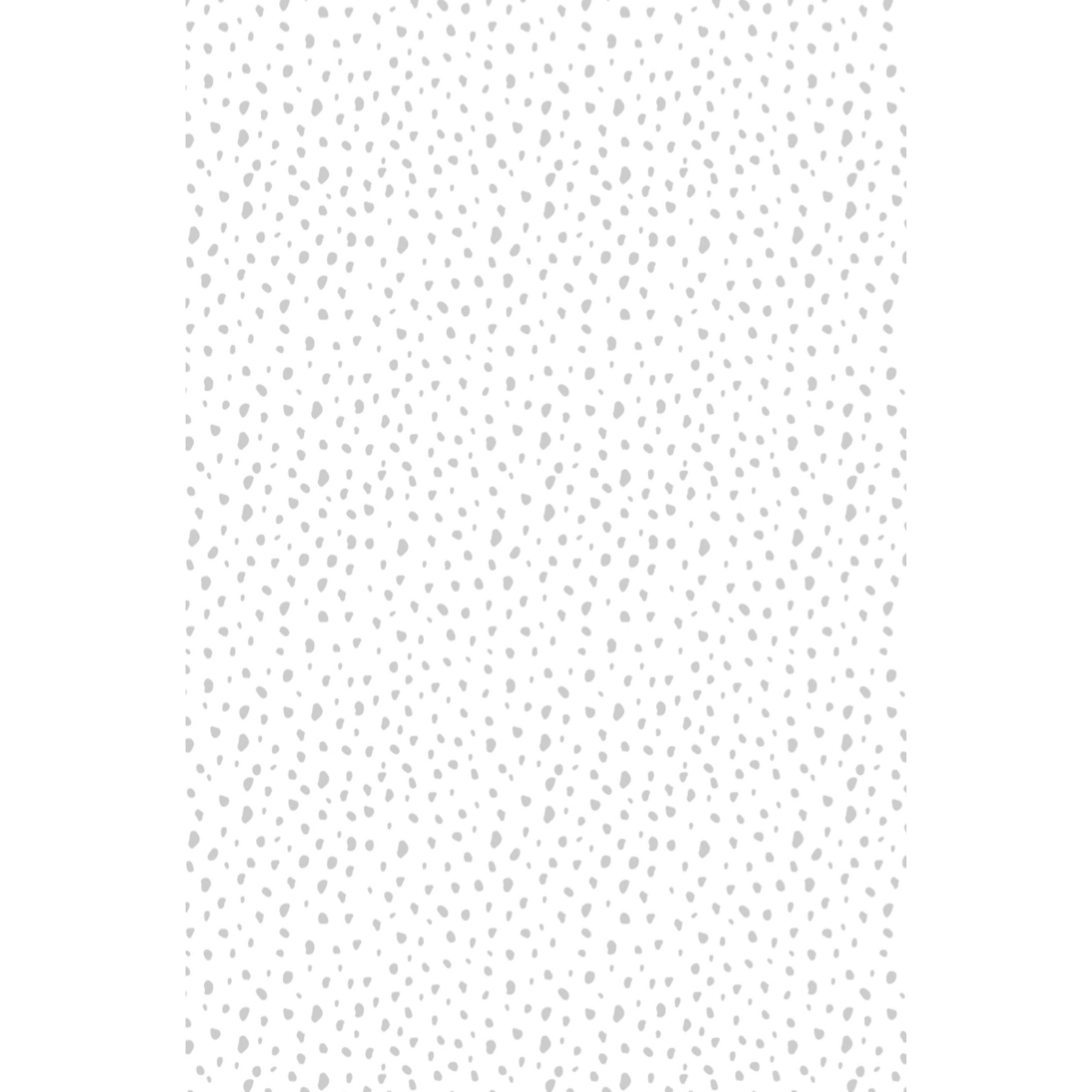 Modern Dot Fabric - Grey on White