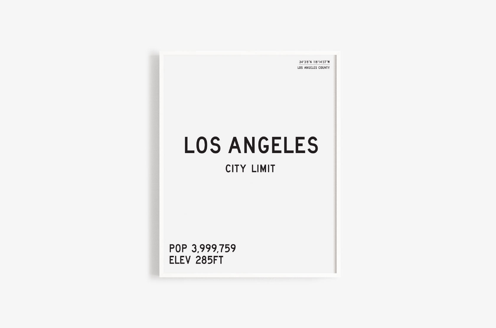 Los Angeles City Limits Art Print