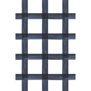 Brushstroke Plaid Fabric - Navy