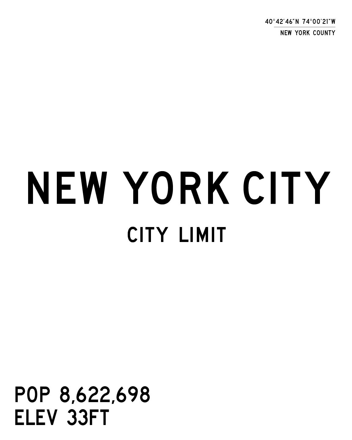 New York City Limits Art Print