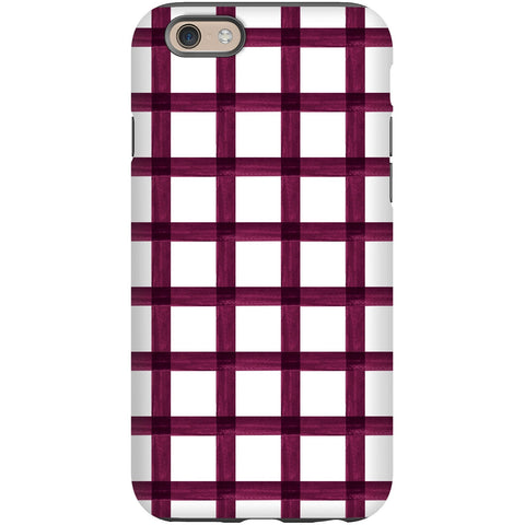 Phone Case - Berry Brushstroke Plaid