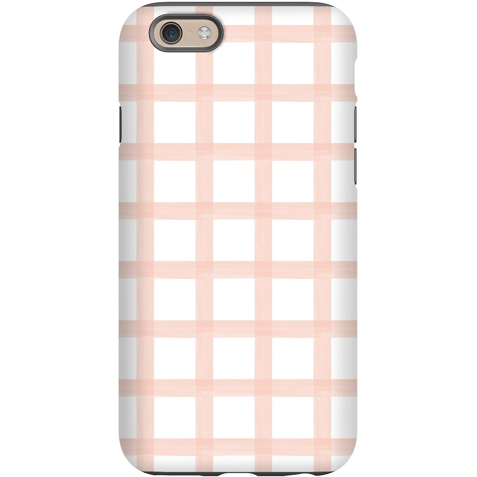 Phone Case - Blush Brushstroke Plaid