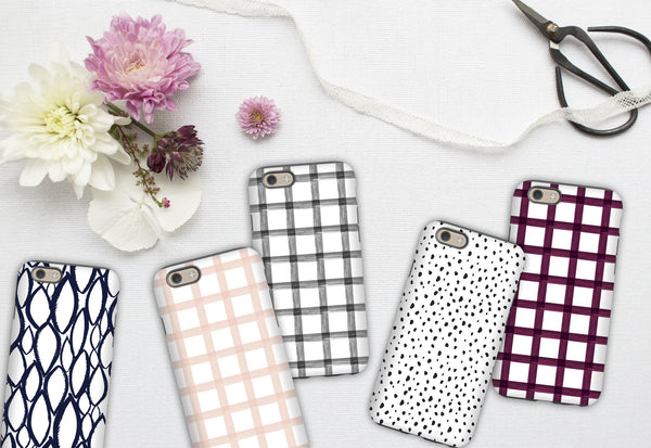Phone Case - Black & White Modern Dot