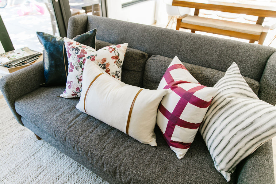 Modern Plaid Pillow Pairing (Set of 5)