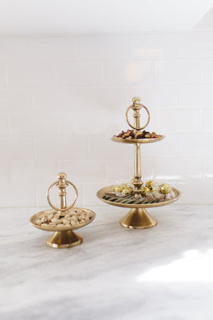 Antique Brass 2 Tier Dish