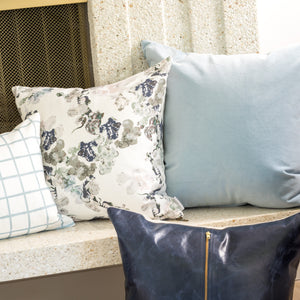 Steel Blue Velvet Pillow