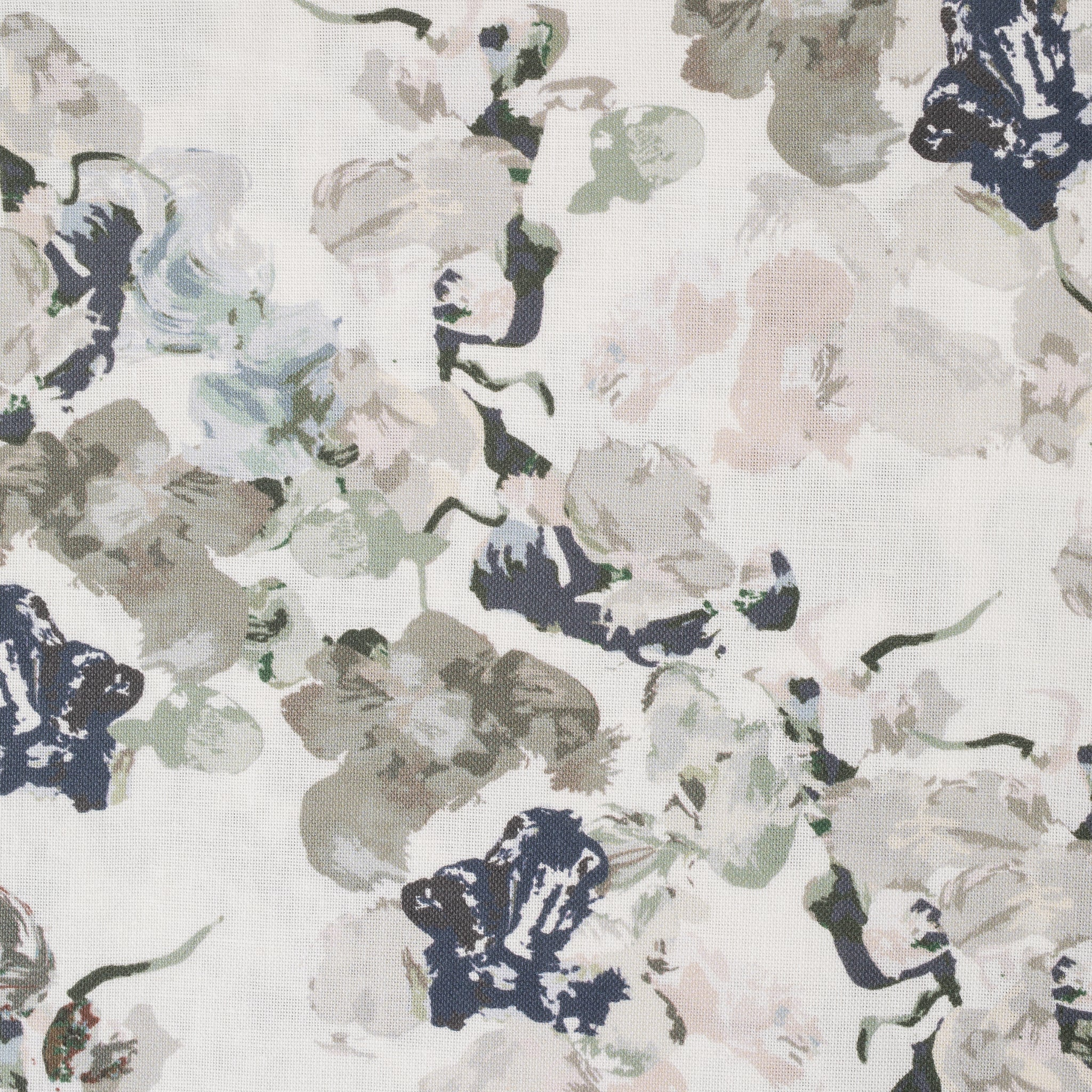 Anna Floral Fabric - Dusty Pink