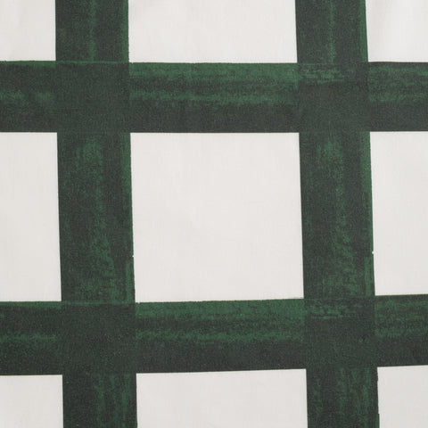 Brushstroke Plaid Fabric - Forest