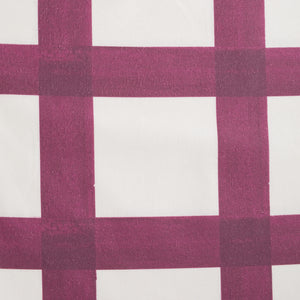 Brushstroke Plaid Fabric - Berry