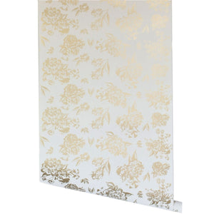 Vivienne Floral Wallpaper - Metallic Gold